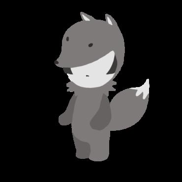 狐の着ぐるみのフリー素材