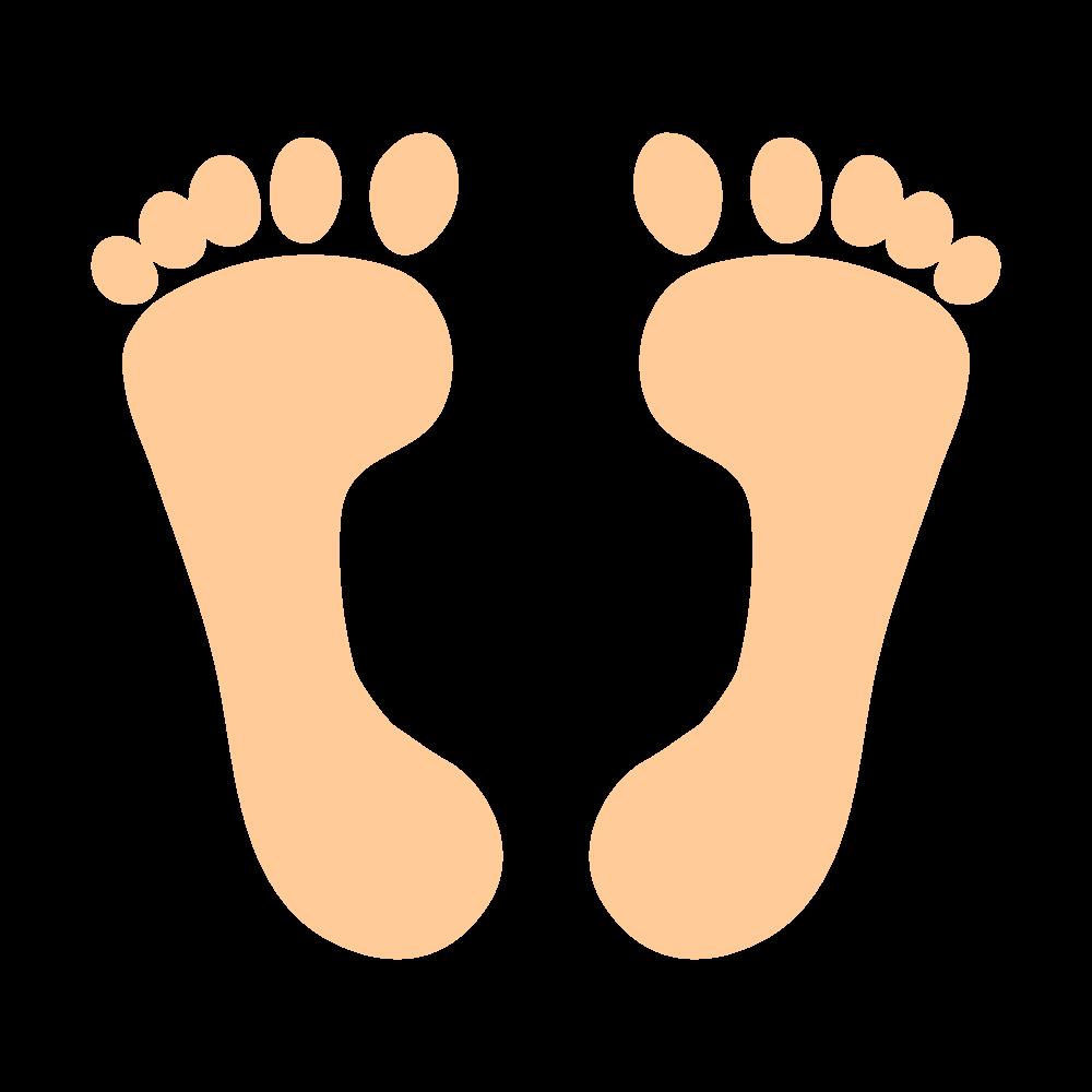 素足の足跡(ペールオレンジ)
