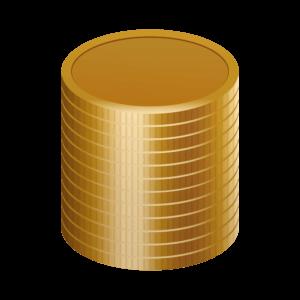 積まれたコイン