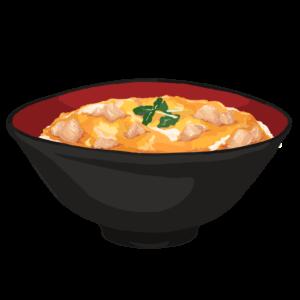 親子丼のフリーイラスト素材