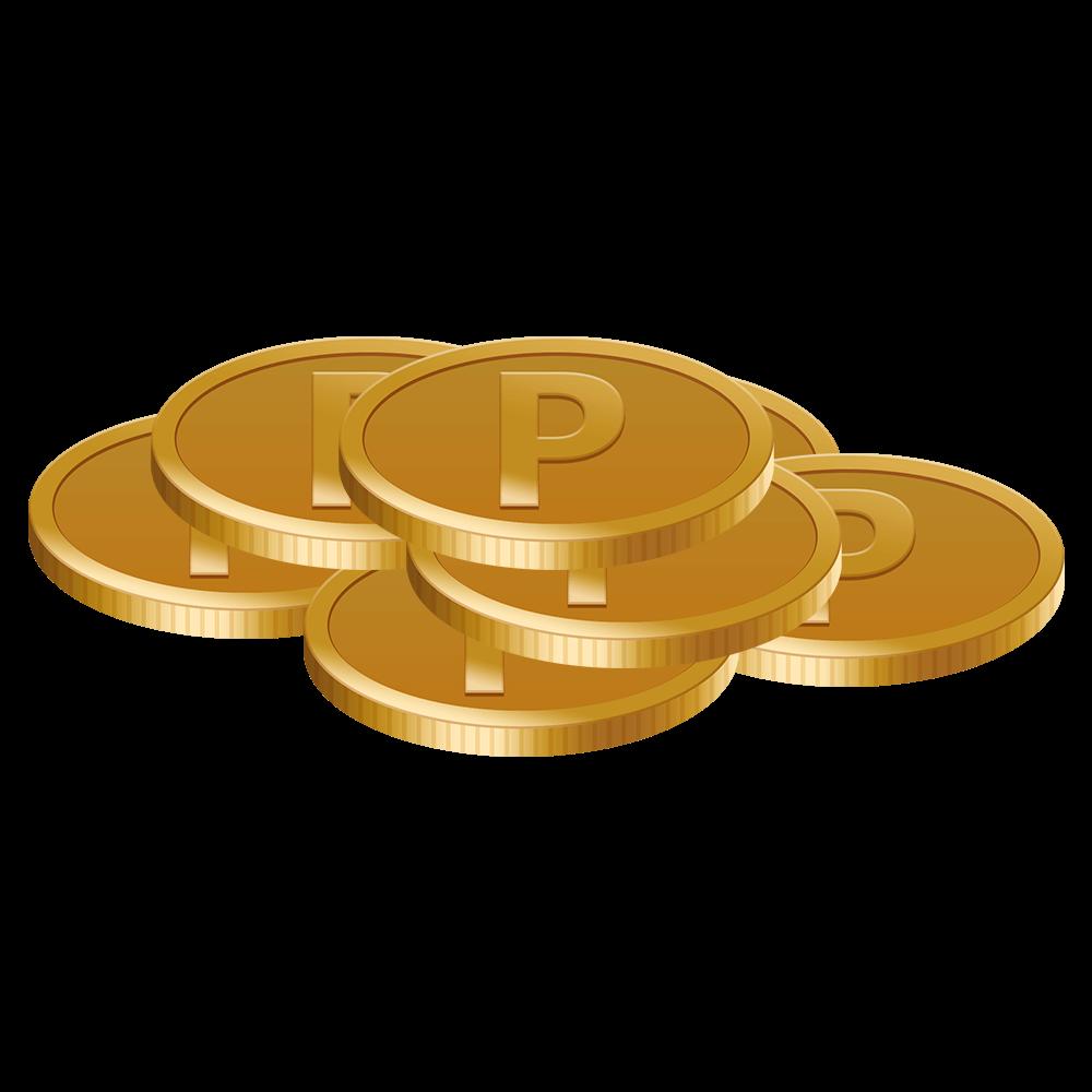 ポイントコインの山