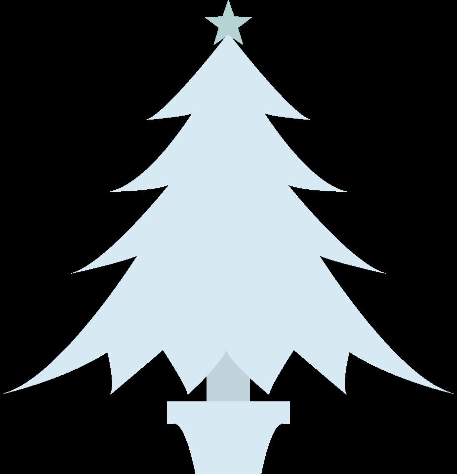 青いおしゃれなクリスマスツリー