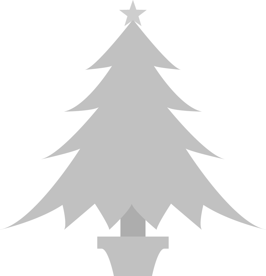 シルバーのクリスマスツリー