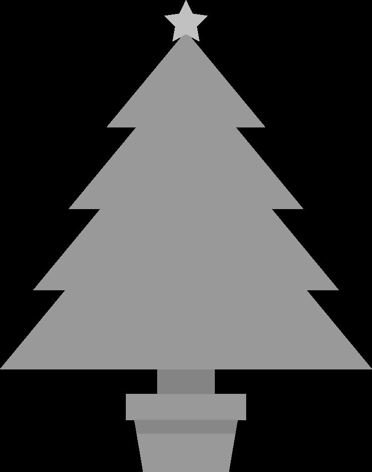 おしゃれなクリスマスツリーのイラスト素材