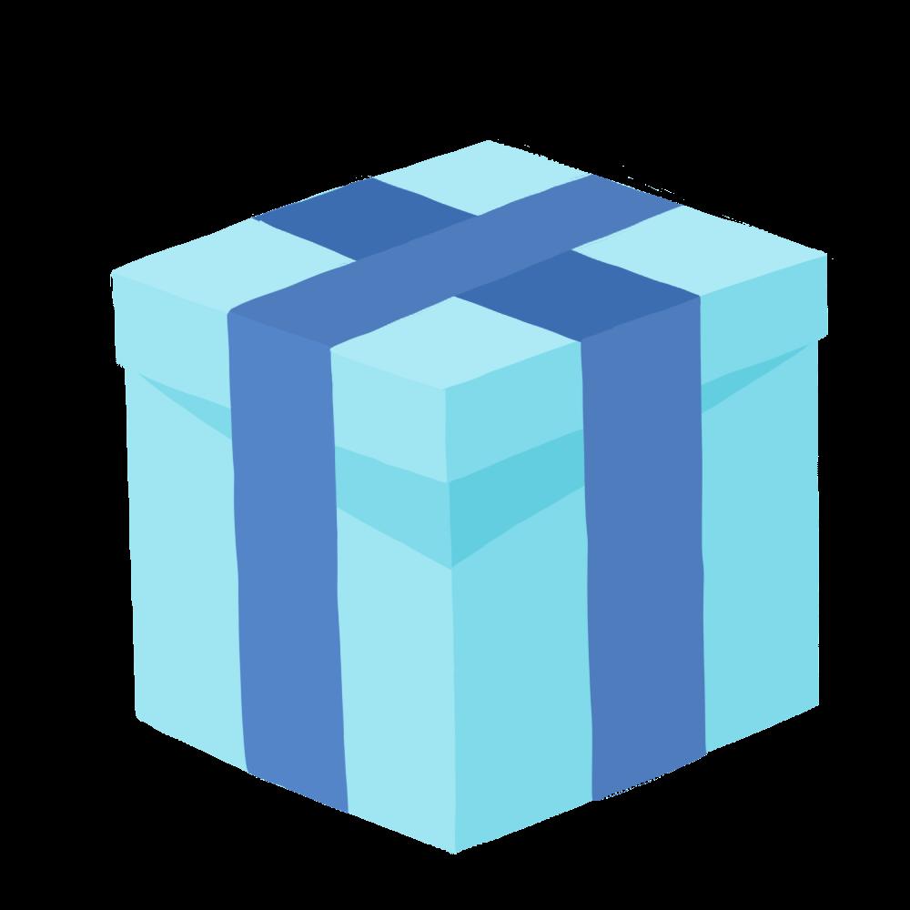 青いプレゼント