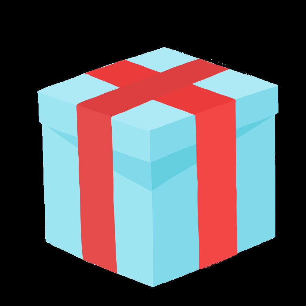 水色のプレゼント