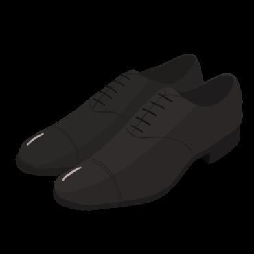 ストレートチップの革靴