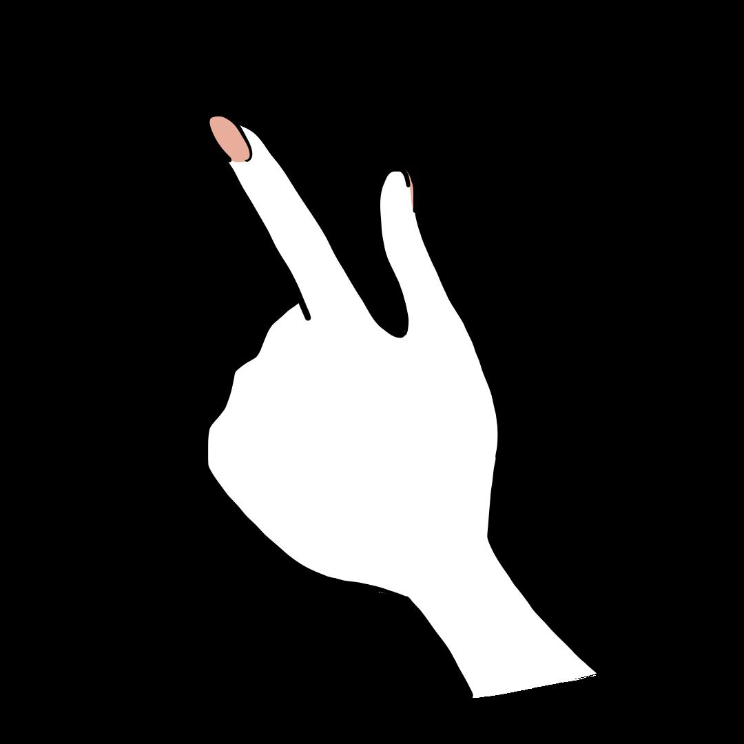 指をさす手